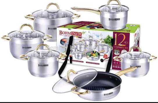 12 Pieces Cookware set- Bohminox image 1