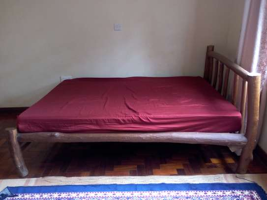 Bed with Mattress Well built image 2
