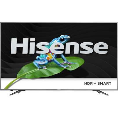 Hisense 65 Inch LED HDR 4K Ultra HD Smart TV 65B7100UW With Freeview Play, Black/Silver