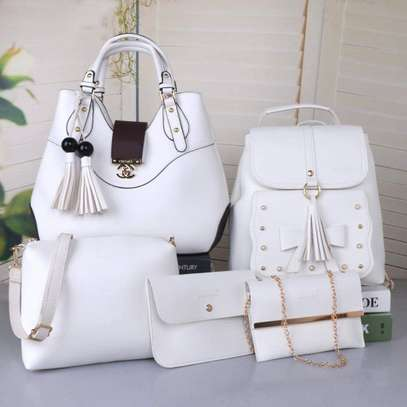 5 in 1 white handbags