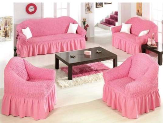 5 cushion couch Elastic Sofa cover image 4