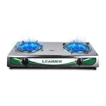 LEADDER Gas cooker Gs-S201 Two Burners Stainless 304 Low consumption Gas Stove Low Carbon Energy Saving image 2