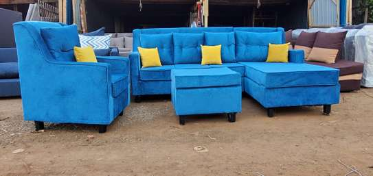 L shape 6 seater plus one seater image 1