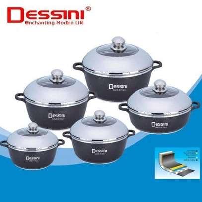 Dessini Non-Stick Cooking Pots Cookware set - 10pcs Dessini Die cast Set image 2