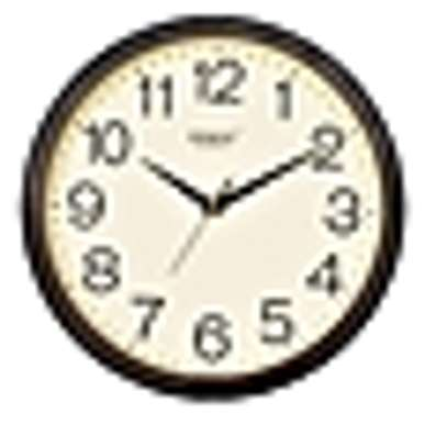 Rikon Quartz Wall Clock - Round shaped Brown Ivory 1751 image 1