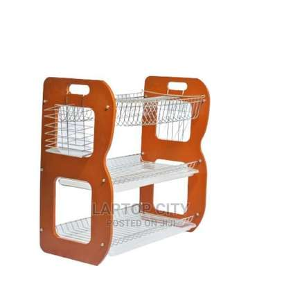 """22"""" 3 Layer Wooden Dish Rack image 1"""
