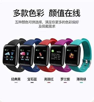 116 Plus Smart Watch Wristband Sports Fitness Blood Pressure Heart Rate Call Message Reminder Android Pedometer D13 Smart Watch image 7