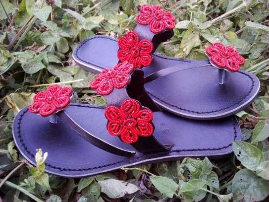 Fashion stylish beaded ladies sandals image 3