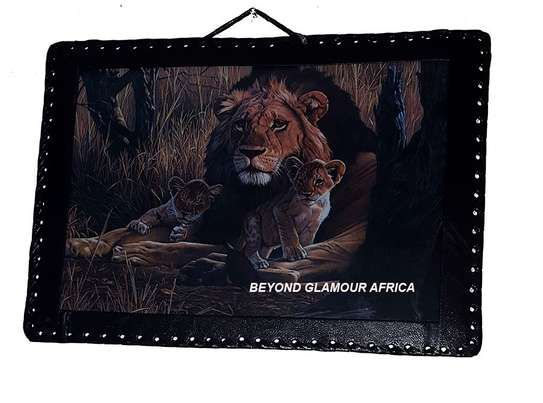 Lion Leather Wall Hanging