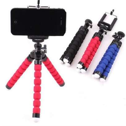 Phone Tripod, Compatible with iPhone, Android, Camera, and gopro, Small and Lightweight Mini Tripod with Flexible Legs (red ) image 4