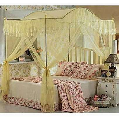 Mosquito Net with Metallic Stand (Curved) 6 by 6 - Cream image 1