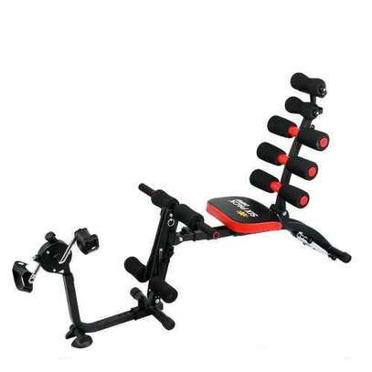 Six Pack Care Exercise Bench with Two Chest Ex-Panders image 1