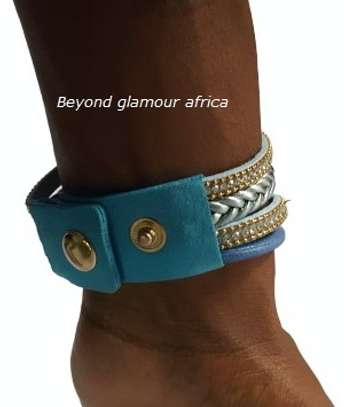 Blue Leather Watch Bracelet image 3