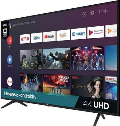 New Hisense 55 inches Android Smart UHD-4K Digital Frameless TVs image 1