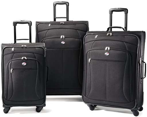 3 Piece 3 in 1 Softside Spinner Wheel Luggage Set Suitcase Set