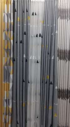 cheap European patterned fabric curtain and sheers image 4