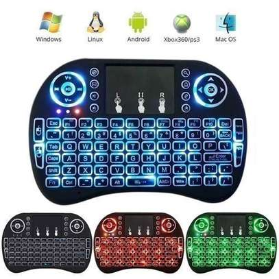 Wireless Mini Keyboard with Mouse Touchpad and Back-light for Android Box/ Smart TV/ Laptop - Black.