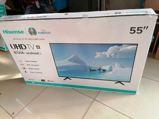 Brand new 55 inch hisense smart uhd android tv