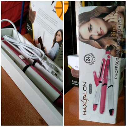 3 in 1 Maxi Professional Hair Curler, Straightener and Tong image 1