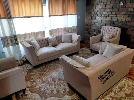 Seven seater chesterfield sofas for sale in Nairobi Kenya/single seater wingback chair/two seater sofa/three seater sofa/sofa set image 1