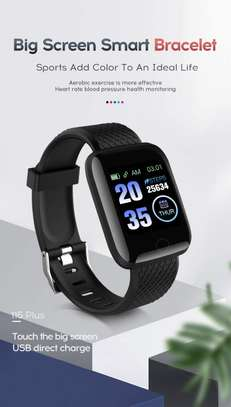 116 Plus Smart Watch Wristband Sports Fitness Blood Pressure Heart Rate Call Message Reminder Android Pedometer D13 Smart Watch image 5