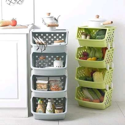 New vegetable rack 4tier with top cover image 2