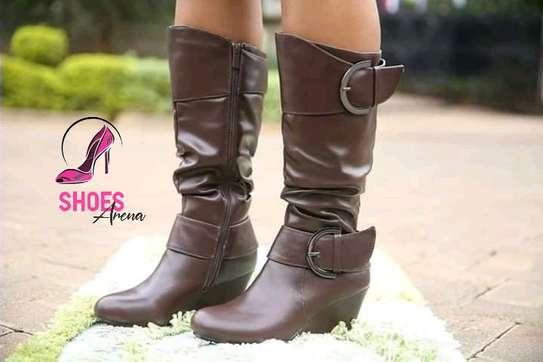 Rainy season leather boots image 4