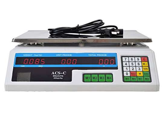 40kg Computing Scale for Cafeteria Candy Grocery.
