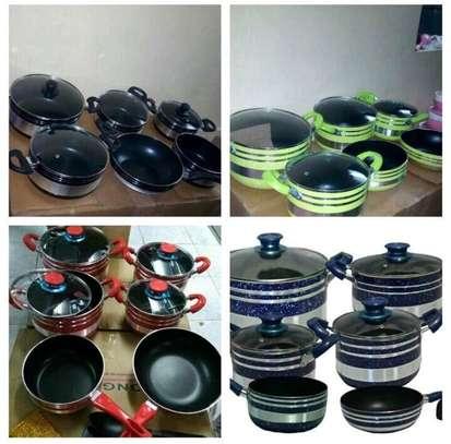 12pc Nonstick sufuria/cooking pot/Morden sufuria image 1