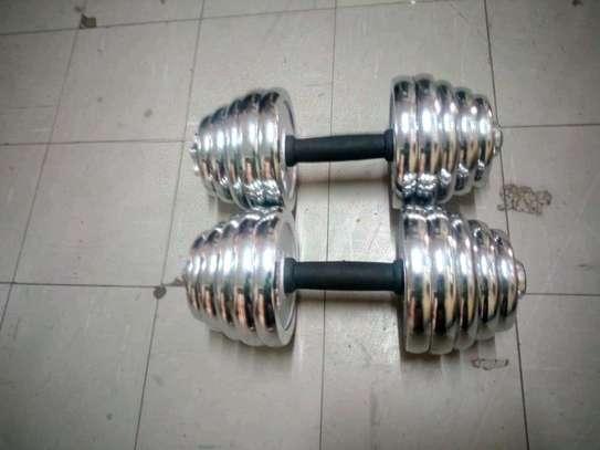40Kg Electroplated Dumbells image 2