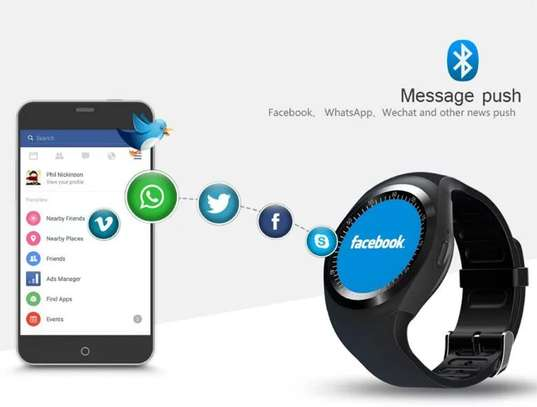 Sports Fitness Bluetooth Smart Watch Pedometer supports sim card image 2