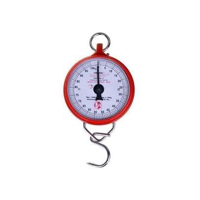 Weighing Scale Heavy Duty Portable, Hook Type 100Kg - Red