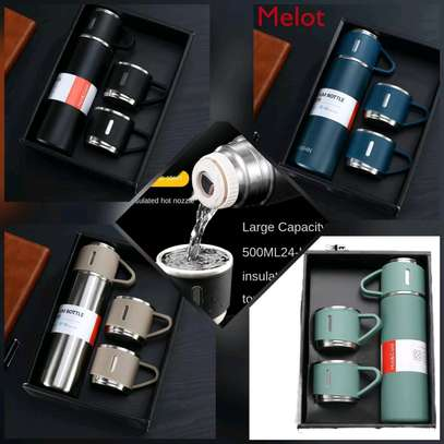 3pcs stainless steel vaccum flask image 1