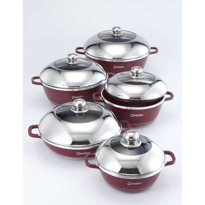 Granite Coated 10 Pcs Non-Stick Cooking Pots image 1