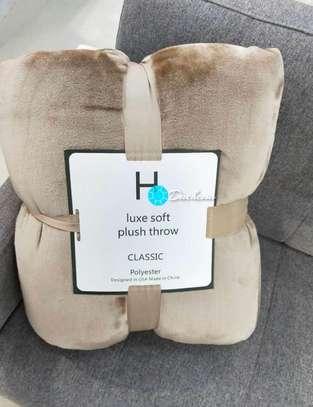 light brown fleece blankets image 1