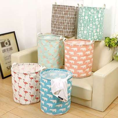 Seioure Waterproof Animal Canvas Sheets Laundry Clothes Basket Folding Storage Box