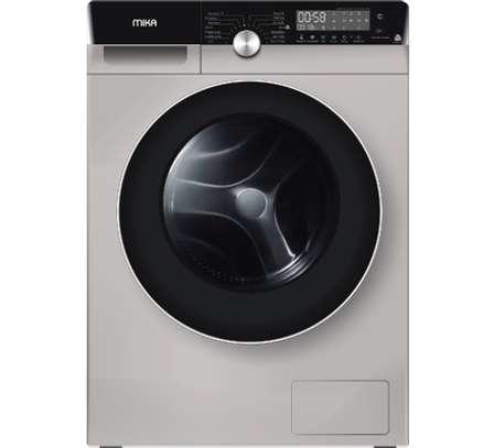 MIKA Washing Machine, Inverter Motor, Fully-Automatic, 8Kgs, Dark Silver image 1
