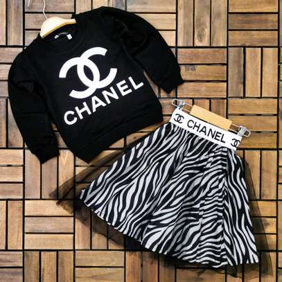 Young girls Chanel skirt sets image 2