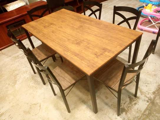 6seaters wooden dining table