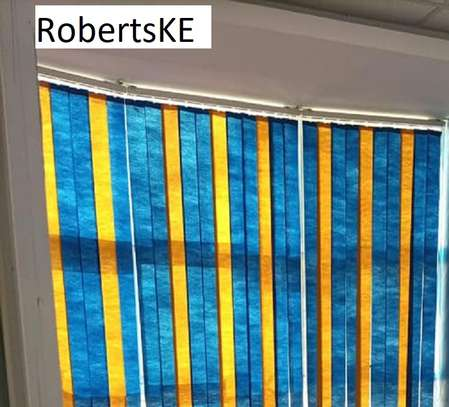 Yellow blue blinds image 1