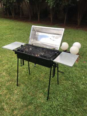 Portable Grill with a Canvas Bag image 1