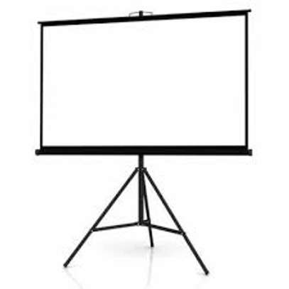 tripod projector screen  60*60 for hire image 1