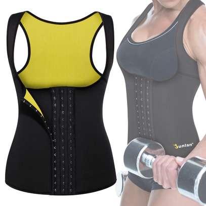 Women Neoprene Waist Trainer Vest Corset Sauna Body Shaper Weight Loss image 2
