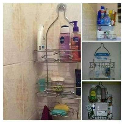 Bathroom Shower Caddy-Silver image 1