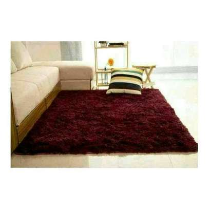 Quality fluffy carpet size 5*8 image 1