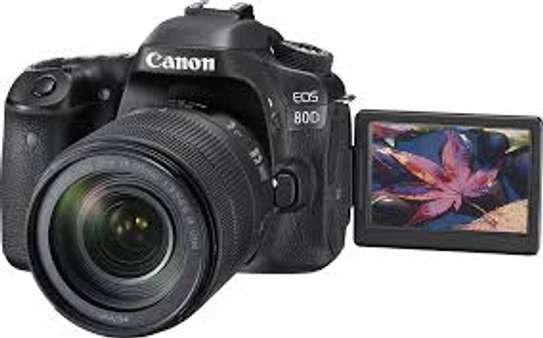 Canon EOS 80D 18-135mm Lens + 64 gb card image 1