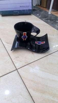 6 pcs Black wavy cups image 1