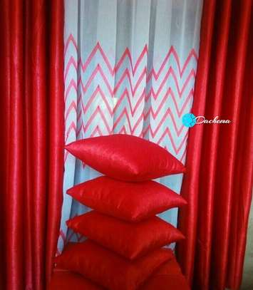 plain red throw pillows