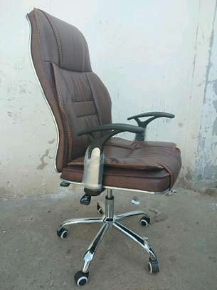 Executive brown office chair image 1