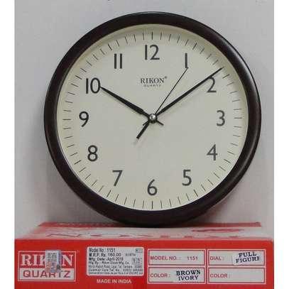 Rikon Wall Clock - Non Ticking - Ivory Dial image 2